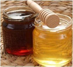 Цвет гречишный мед