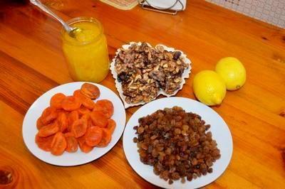 Сухофрукты с медом и лимоном
