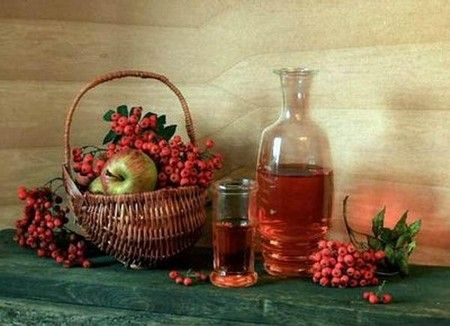 Настойка на ягодах рябины