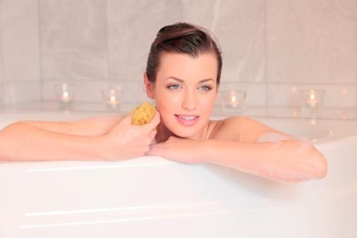 Ванна с клевером