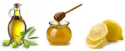 Масло, мед и лимон