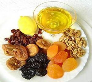 Сухофрукты, орехи и мед