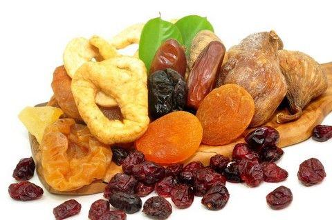 Сушеные плоды и ягоды