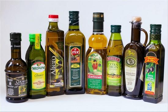 Оливковое масло разных марок