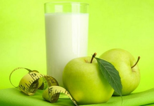 Яблоки и кефир