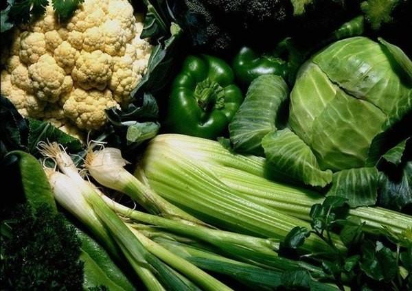 Листовые и зеленые овощи
