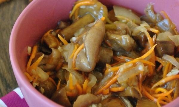 Пикантные грибы по-корейски