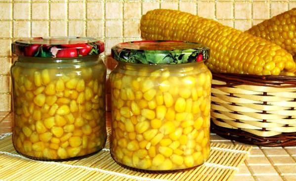Маринованные зерна кукурузы
