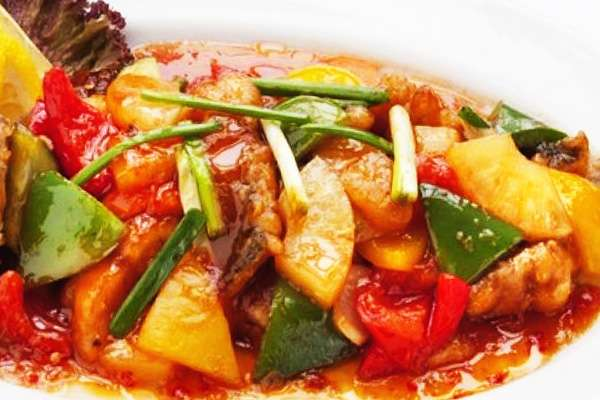 Яркий соус из овощей