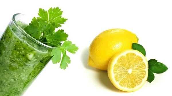 Зелень и лимон
