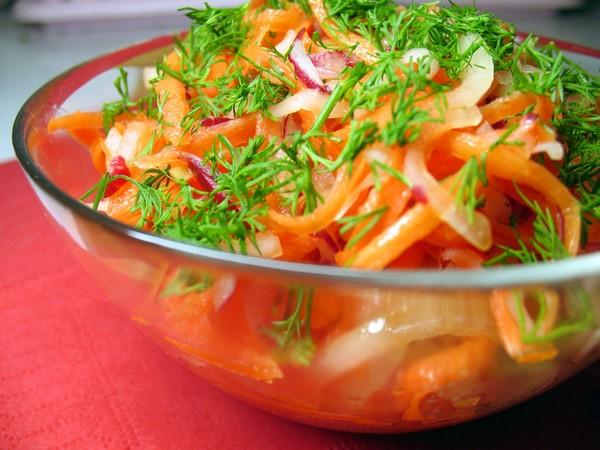 Корень в салате