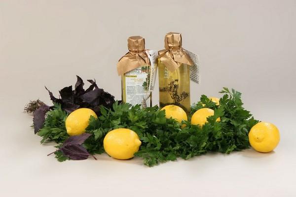 Зелень и лимоны