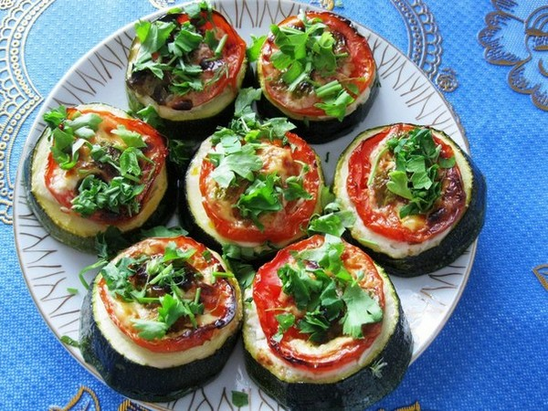 Классический вариант - овощные колечки