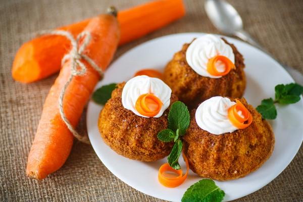 Кексики с морковью