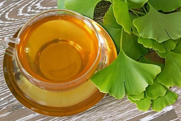 Напиток из листьев гинко