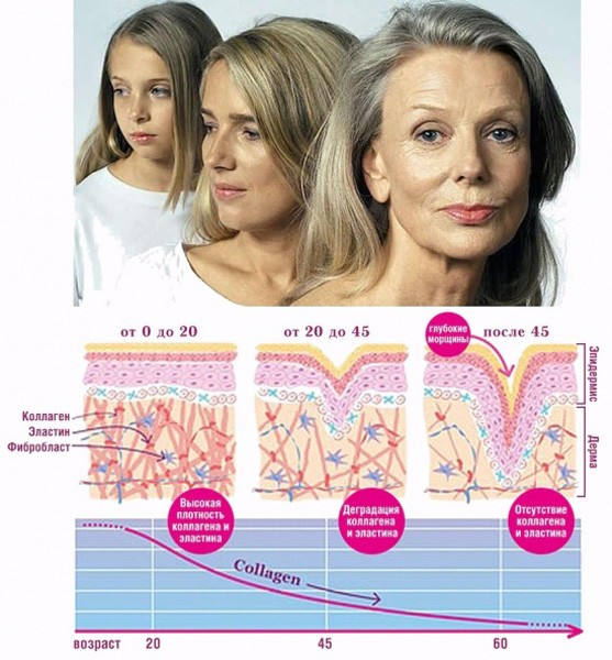 Изменение кожи с возрастом