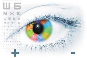 снижение остроты зрения