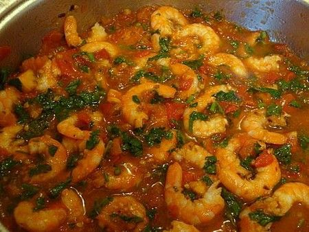 Блюдо с морепродуктами