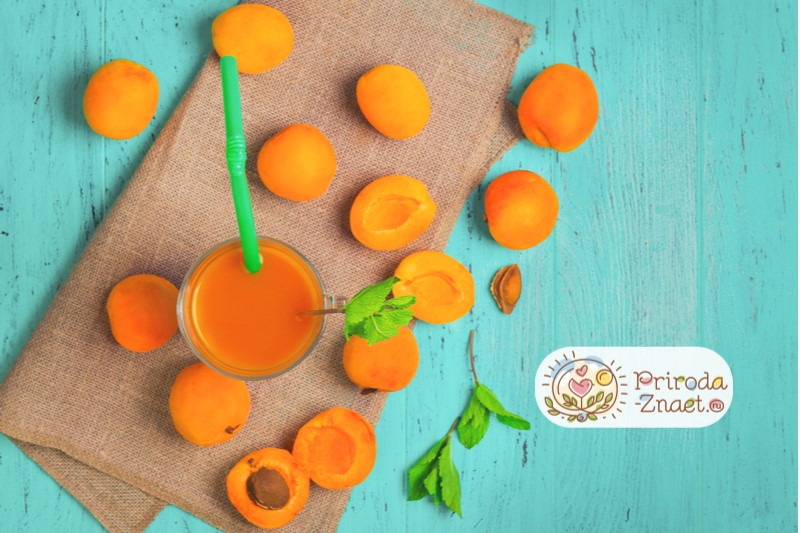 смузи абрикос с морковью