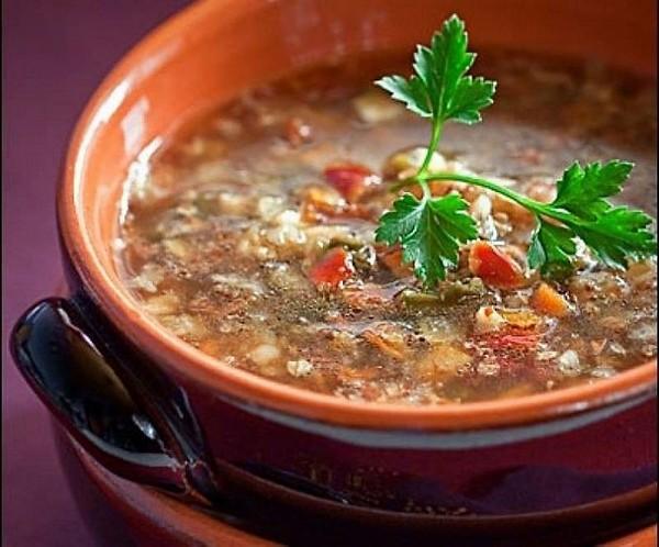 Диетический суп с гречкой