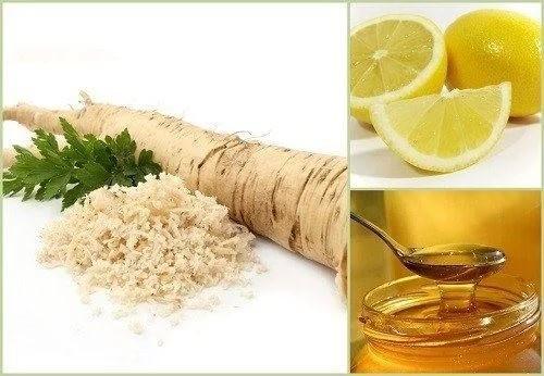 Хрен, лимон и мед
