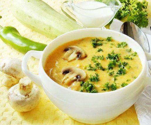 Крем-суп с грибами