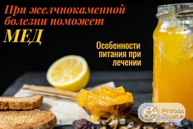 Мед при желчнокаменной болезни
