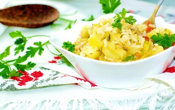 Овощи и рис