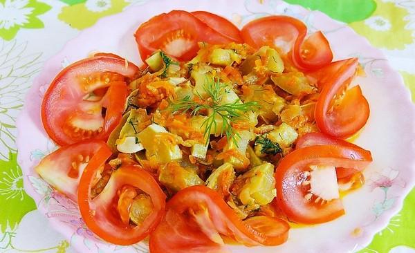 Простое овощное блюдо