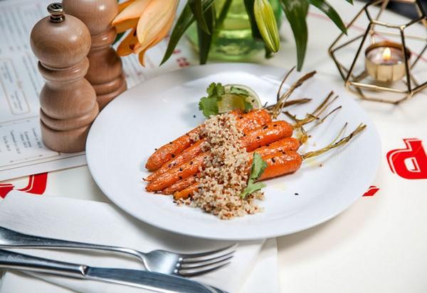 Морковь с киноа