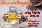 Натуральное масло гвоздики